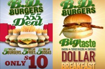 BD Burger Advertisments