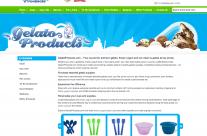 Gelato Products Website