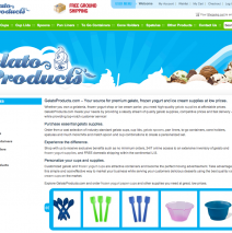 Gelato Products Website